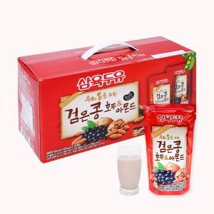 Thùng 20 bịch sữa đậu đen óc chó hạnh nhân Sahmyook 195 ml