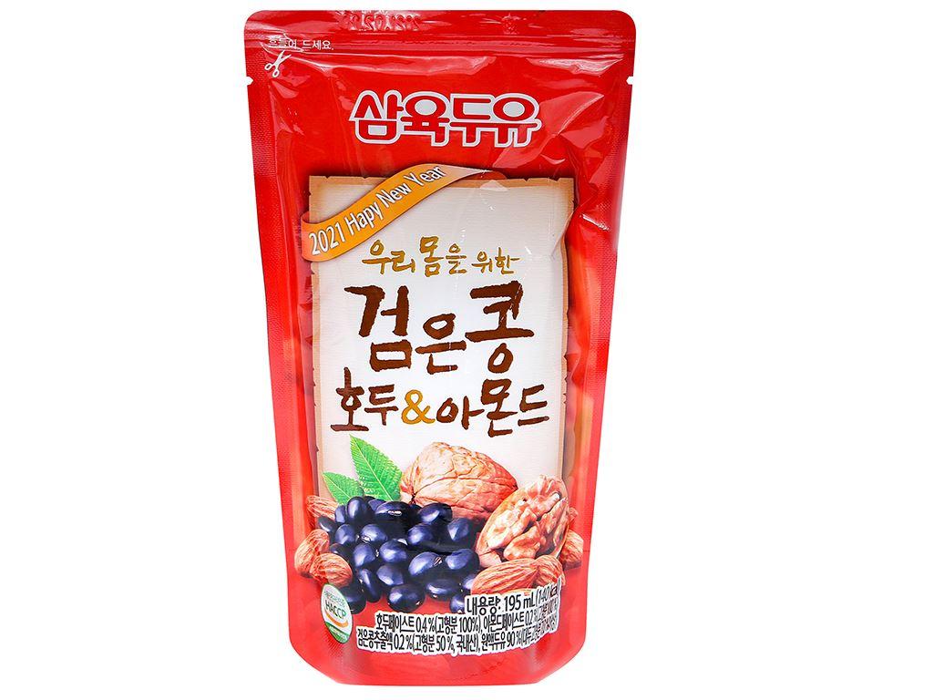 Thùng 20 bịch sữa đậu đen óc chó hạnh nhân Sahmyook 195 ml 2