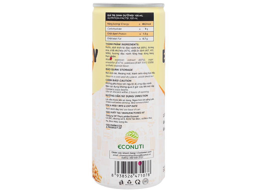 Sữa đậu nành Eco Soy lon 240ml 4