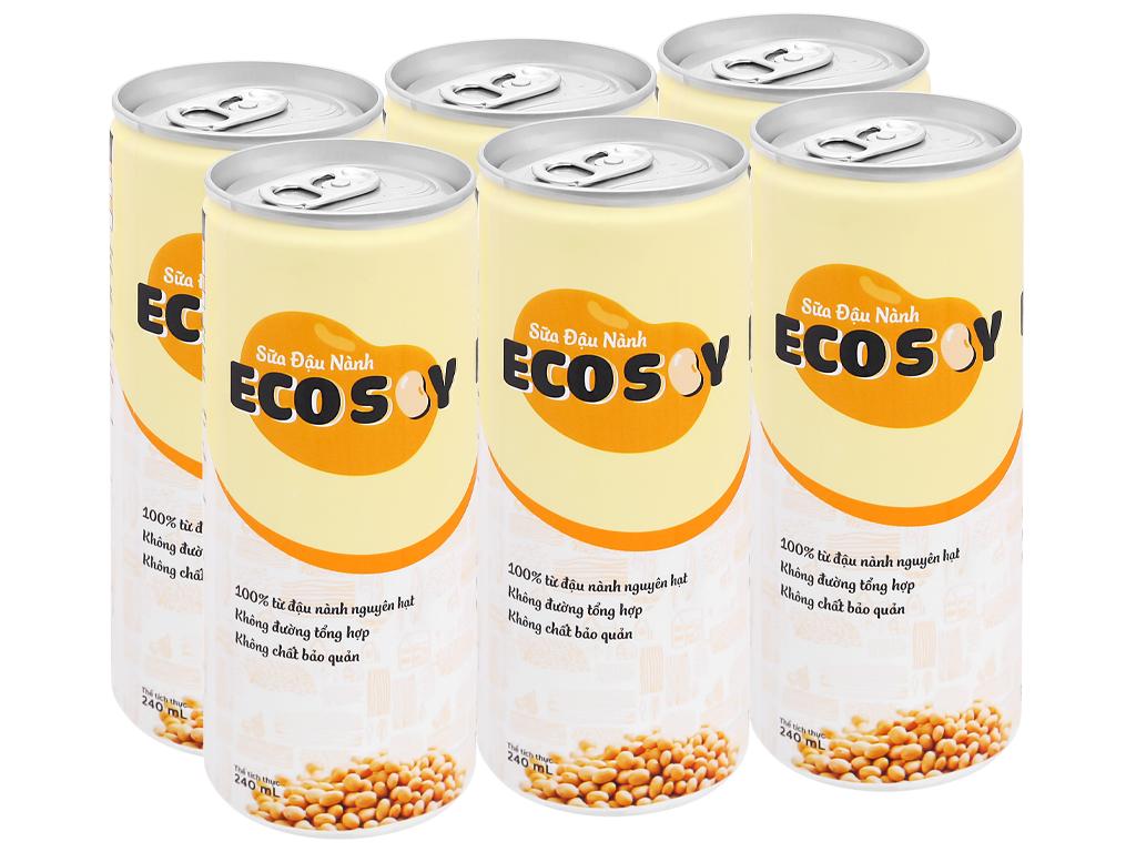 Lốc 6 lon sữa đậu nành Eco Soy 240ml 1