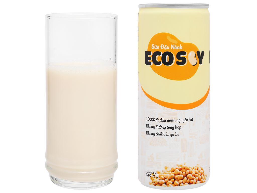 Lốc 6 lon sữa đậu nành Eco Soy 240ml 6