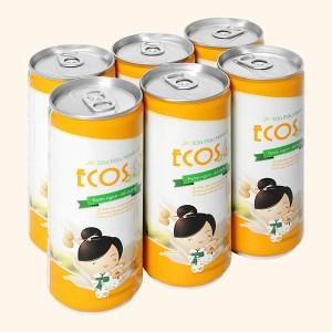 Lốc 6 lon sữa đậu nành Eco Soy 240ml