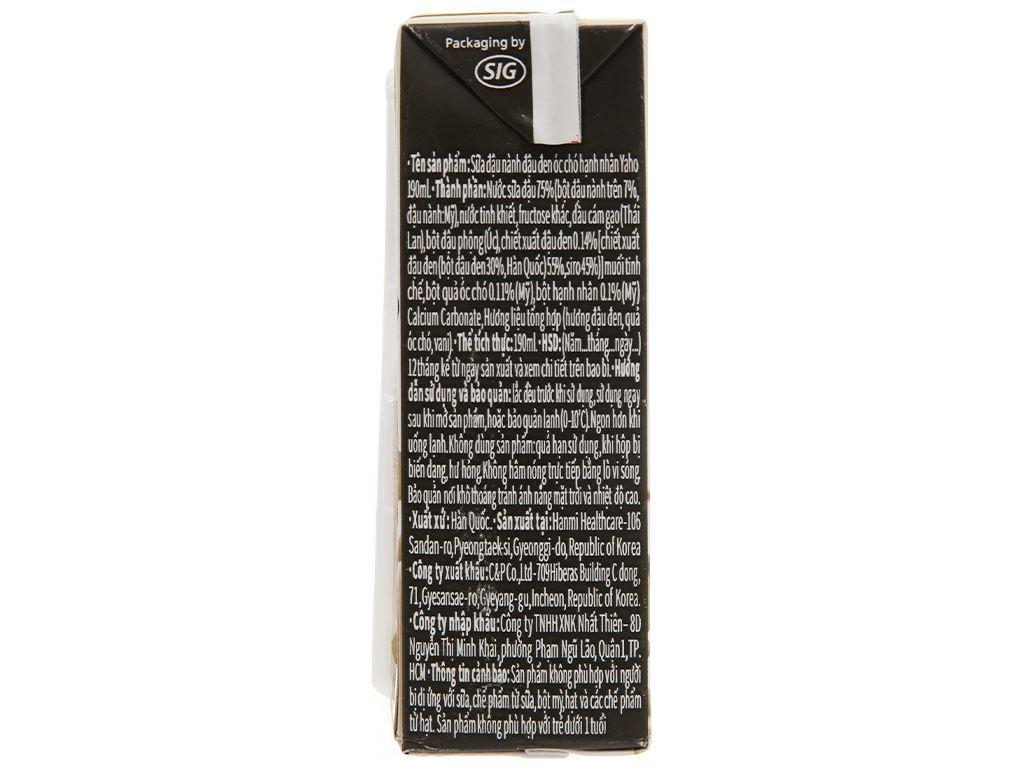 Sữa đậu nành đậu đen óc chó hạnh nhân Yaho hộp 190ml 3