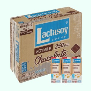 Thùng 36 hộp sữa đậu nành socola Lactasoy 250ml