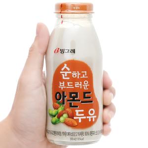 Sữa đậu nành và hạnh nhân Binggrae chai 200ml