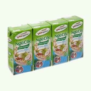Lốc 4 hộp thức uống ngũ cốc dinh dưỡng dừa Việt Ngũ Cốc 180ml