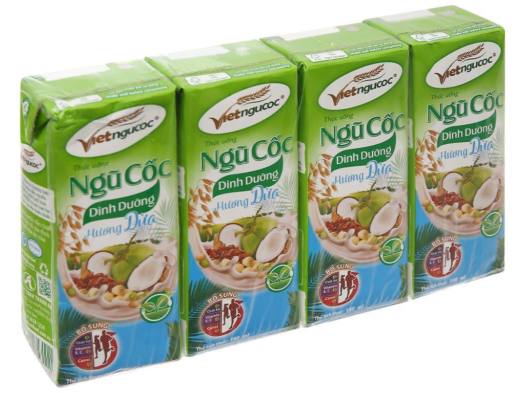 Thùng 40 hộp thức uống ngũ cốc dinh dưỡng dừa Việt Ngũ Cốc 180ml 2