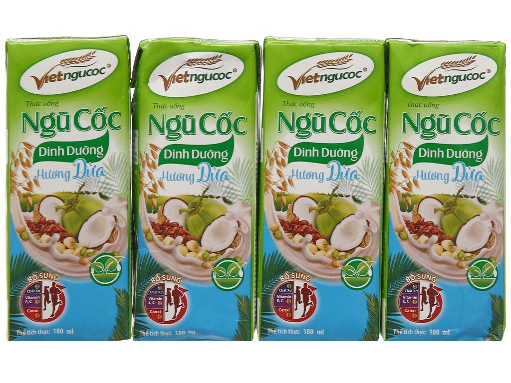Thùng 40 hộp thức uống ngũ cốc dinh dưỡng dừa Việt Ngũ Cốc 180ml 3