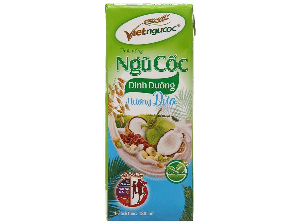 Thùng 40 hộp thức uống ngũ cốc dinh dưỡng dừa Việt Ngũ Cốc 180ml 5