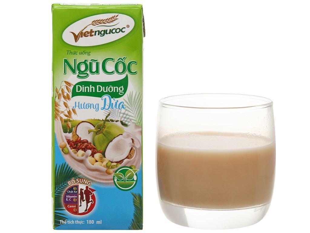 Thùng 40 hộp thức uống ngũ cốc dinh dưỡng dừa Việt Ngũ Cốc 180ml 11