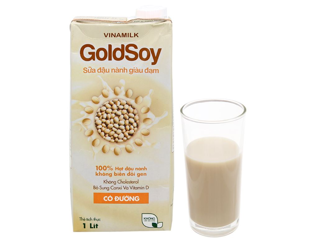 Sữa đậu nành Vinamilk Goldsoy có đường 1 lít 1