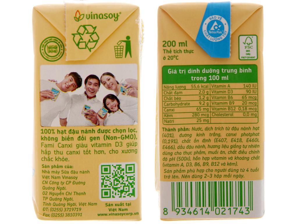 Sữa đậu nành Fami Canxi 200ml 3