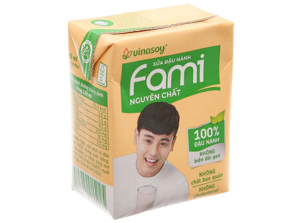 Sữa đậu nành Fami nguyên chất 200ml 2
