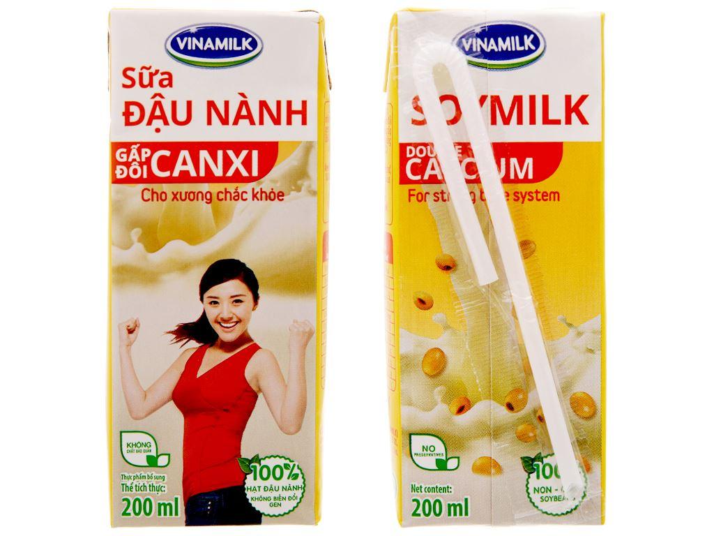 Sữa đậu nành Vinamilk Gấp đôi canxi 200ml 3