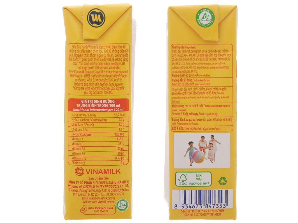 Sữa đậu nành Vinamilk Gấp đôi canxi 200ml 4