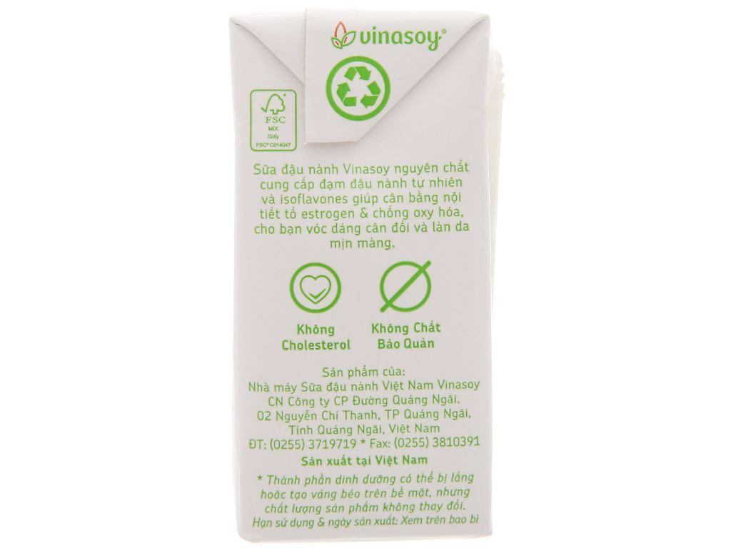 Sữa đậu nành Vinasoy nguyên chất 200ml 3