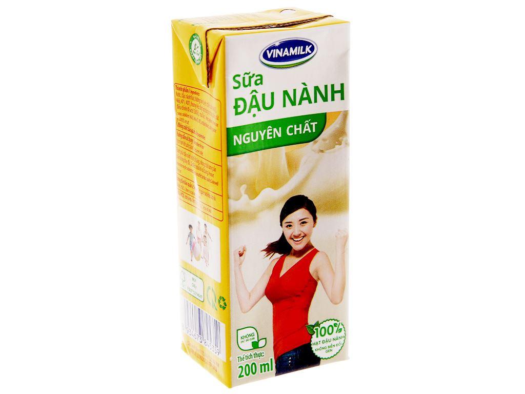 Sữa đậu nành Vinamilk nguyên chất 200ml 2