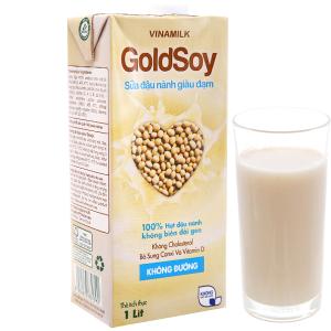 Sữa đậu nành Vinamilk Goldsoy không đường 1 lít