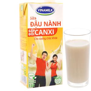 Sữa đậu nành Vinamilk gấp đôi canxi 1 lít