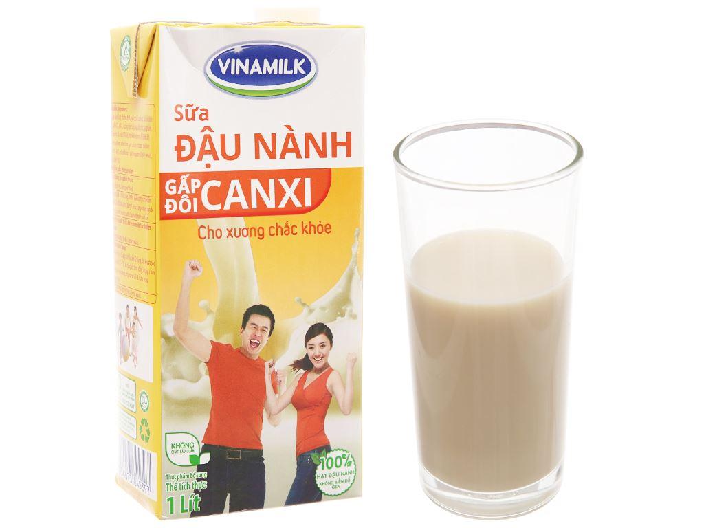 Sữa đậu nành Vinamilk Gấp đôi canxi 1 lít 2