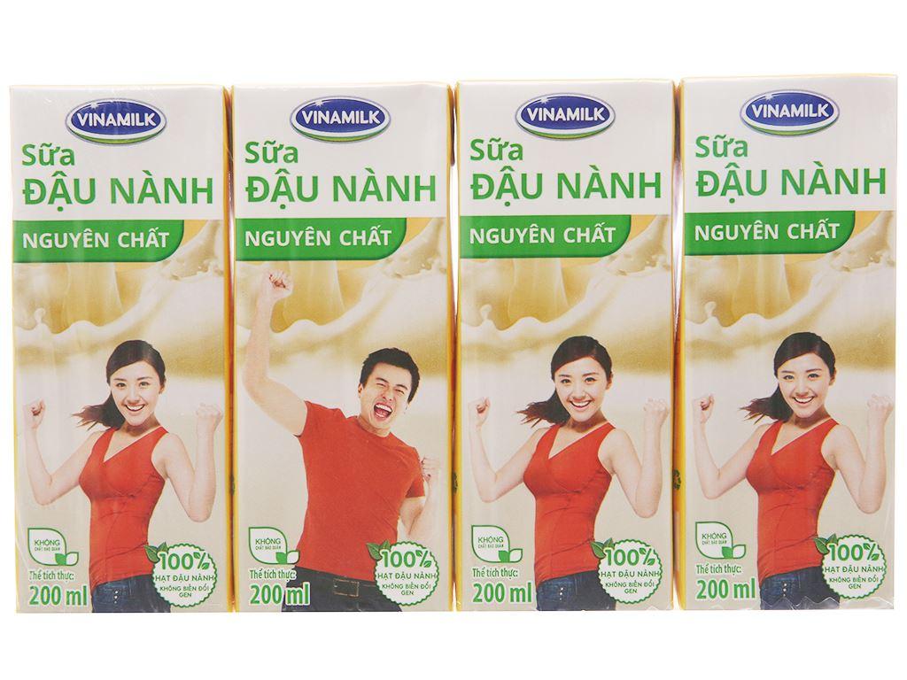 Lốc 4 hộp Sữa đậu nành Vinamilk nguyên chất 200ml 2