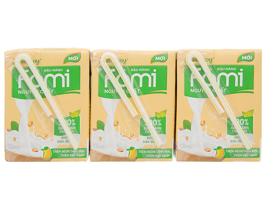 Lốc 6 hộp sữa đậu nành nguyên chất Fami 200ml 2