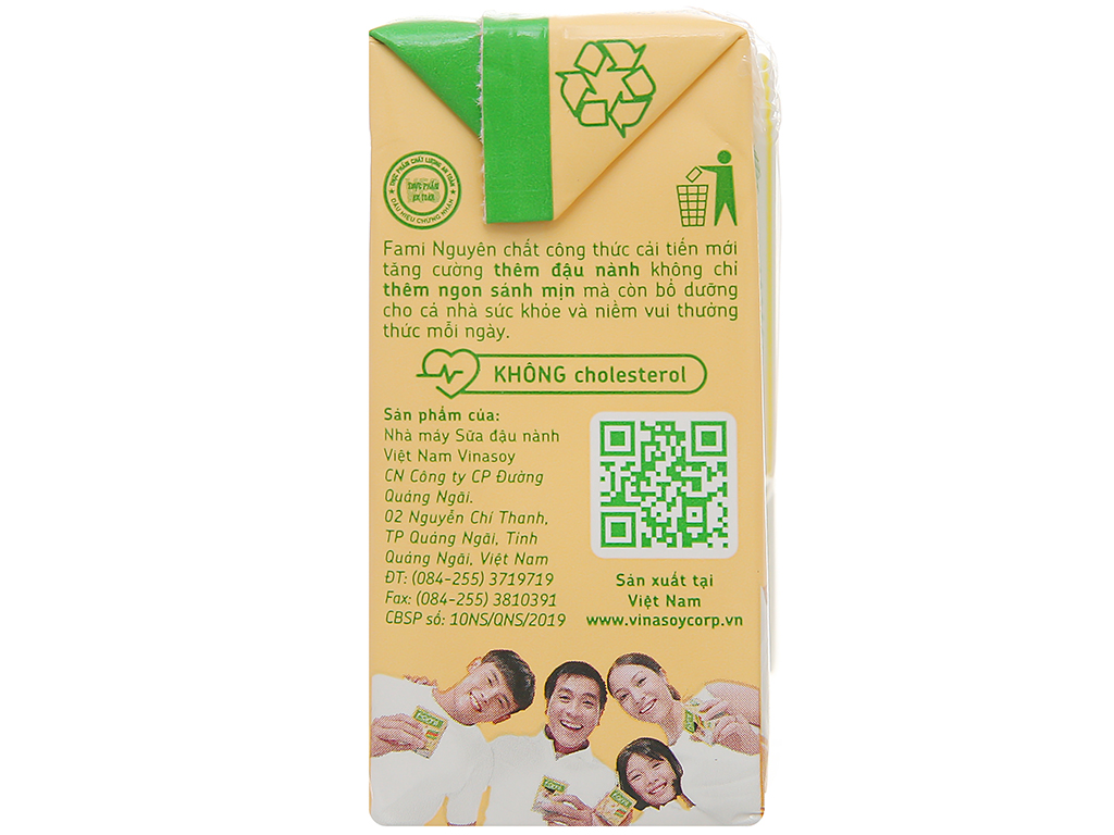 Lốc 6 hộp sữa đậu nành nguyên chất Fami 200ml 6