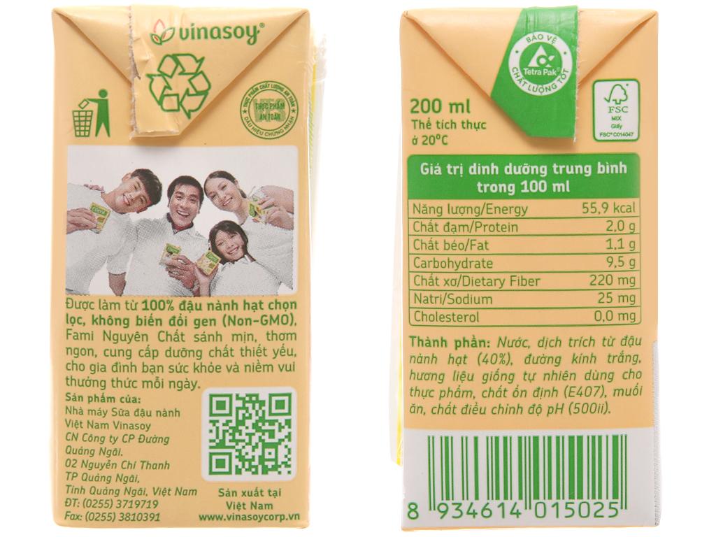 Lốc 6 hộp sữa đậu nành nguyên chất Fami 200ml 4