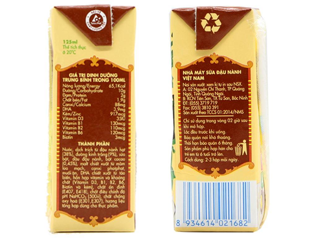 Lốc 4 hộp Sữa đậu nành Vinasoy Kid sô cô la 200ml 3