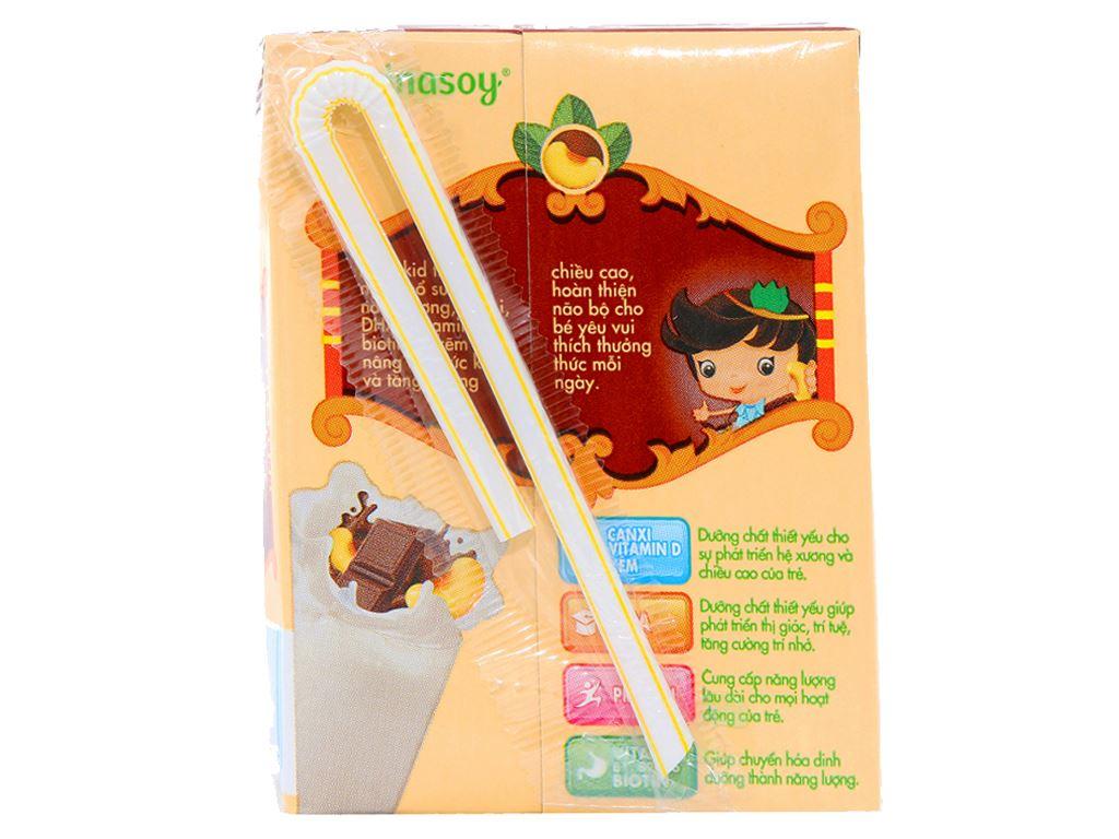 Lốc 4 hộp Sữa đậu nành Vinasoy Kid sô cô la 200ml 4