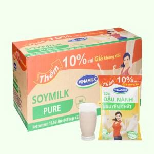 Thùng 48 bịch sữa đậu nành nguyên chất Vinamilk 220ml