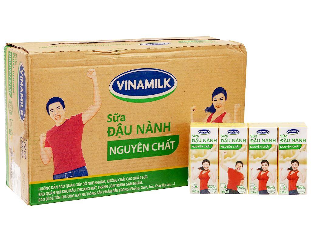 Thùng 48 hộp Sữa đậu nành Vinamilk nguyên chất 200ml 2