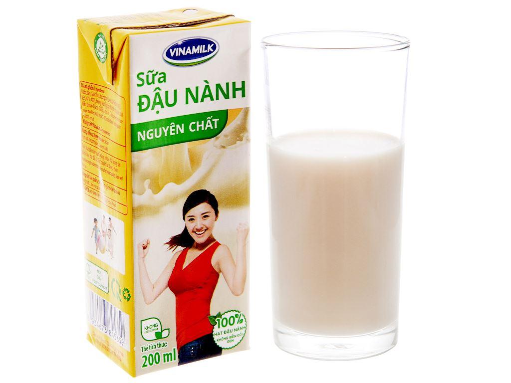 Thùng 48 hộp Sữa đậu nành Vinamilk nguyên chất 200ml 3