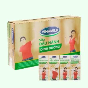 Thùng 48 hộp sữa đậu nành nguyên chất Vinamilk 200ml
