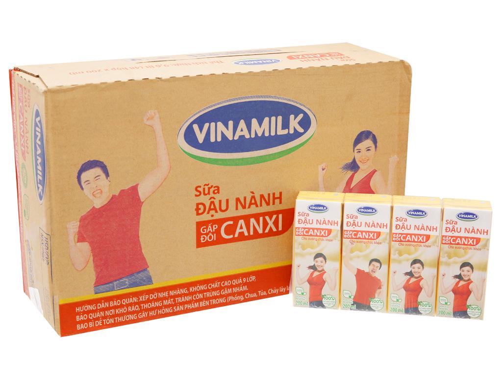 Thùng 48 hộp Sữa đậu nành Vinamilk Gấp đôi canxi 200ml 1