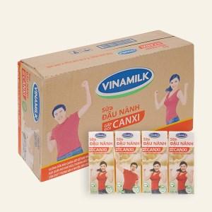 Thùng 48 hộp sữa đậu nành Vinamilk gấp đôi canxi 200ml