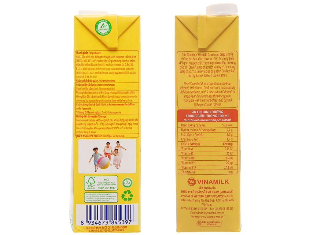 Thùng 12 hộp sữa đậu nành Vinamilk gấp đôi canxi 1 lít 5
