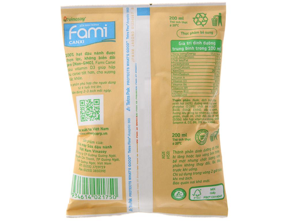 Thùng 40 bịch Sữa đậu nành Fami Canxi 200ml 4