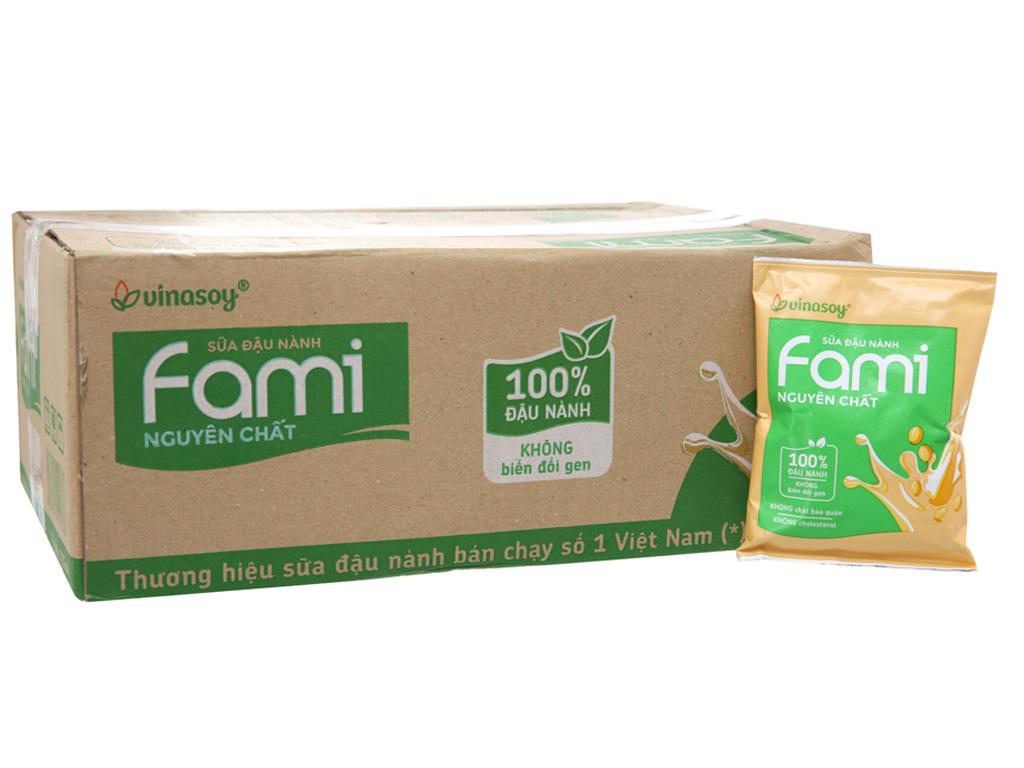 Thùng 40 bịch Sữa đậu nành Fami nguyên chất 200ml 2