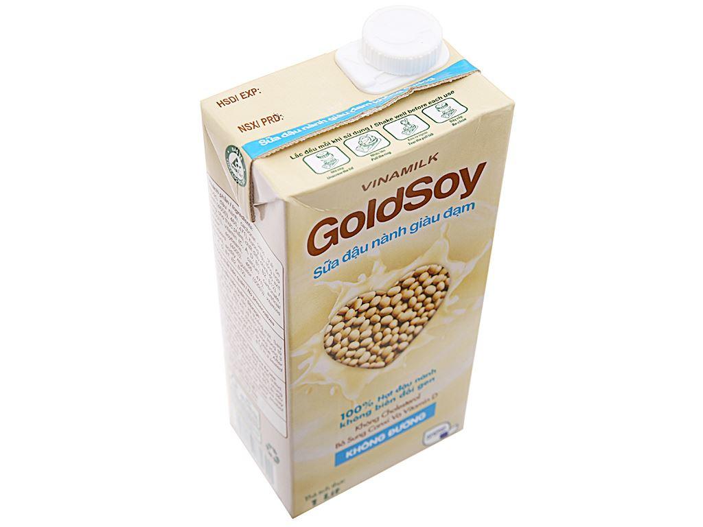 Thùng 12 hộp Sữa đậu nành Vinamilk Goldsoy không đường 1 lít 4