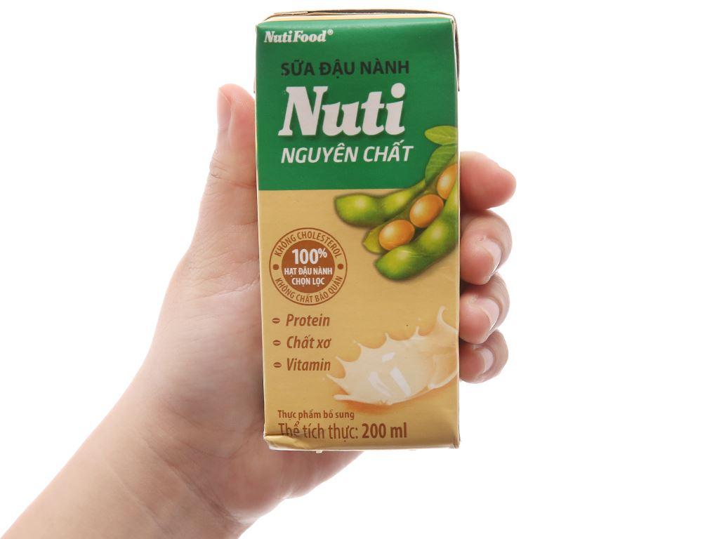 Sữa đậu nành Nuti nguyên chất 200ml 4