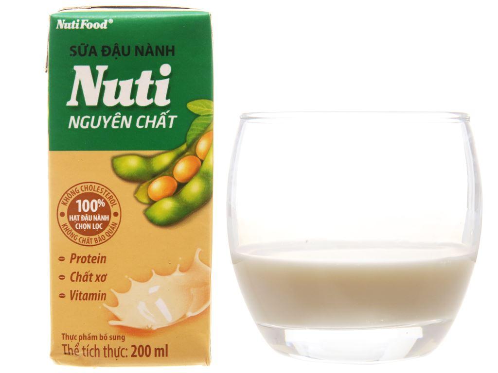 Lốc 6 hộp Sữa đậu nành Nuti nguyên chất 200ml 2