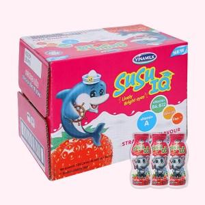 Thùng 48 chai sữa chua uống dâu SuSu IQ 80ml