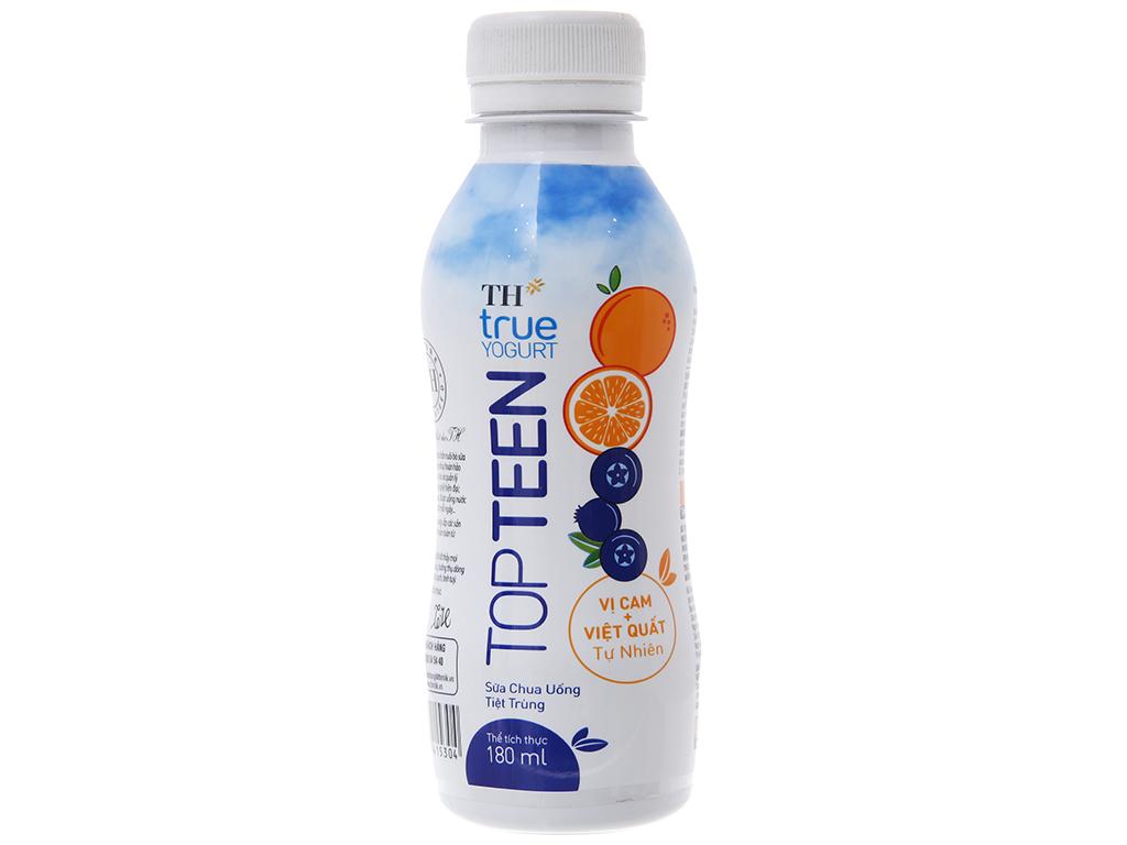 Sữa chua uống TH True Yogurt Topteen cam, việt quất 180ml 3