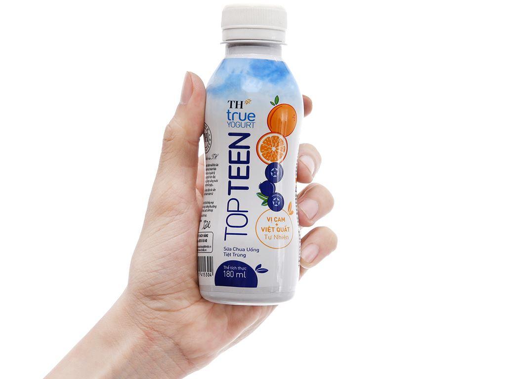Lốc 4 chai sữa chua uống TH True Yogurt Topteen cam, việt quất 180ml 5