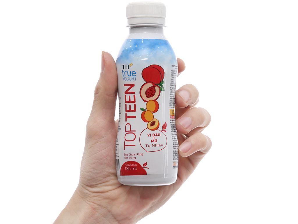 Lốc 4 chai sữa chua uống TH True Yogurt Topteen đào, mơ rừng 180ml 5