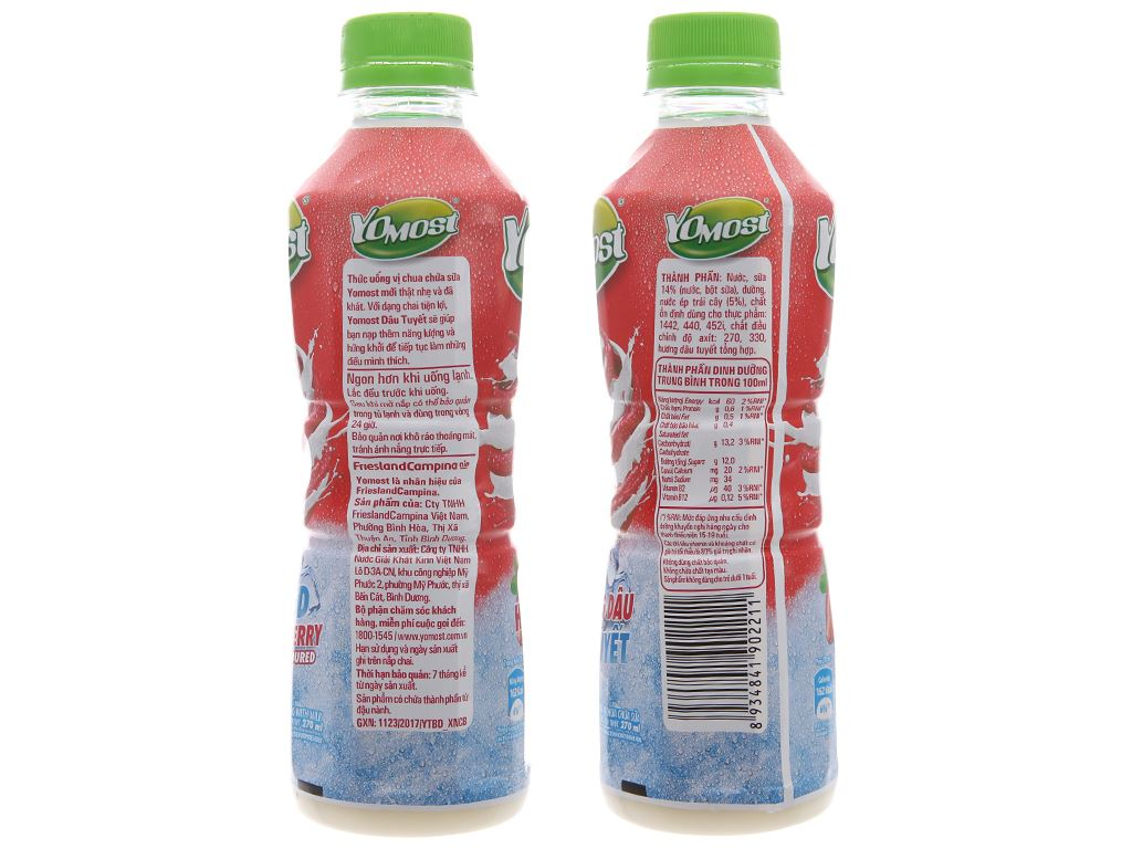 Sữa chua uống YoMost dâu tuyết 270ml 4