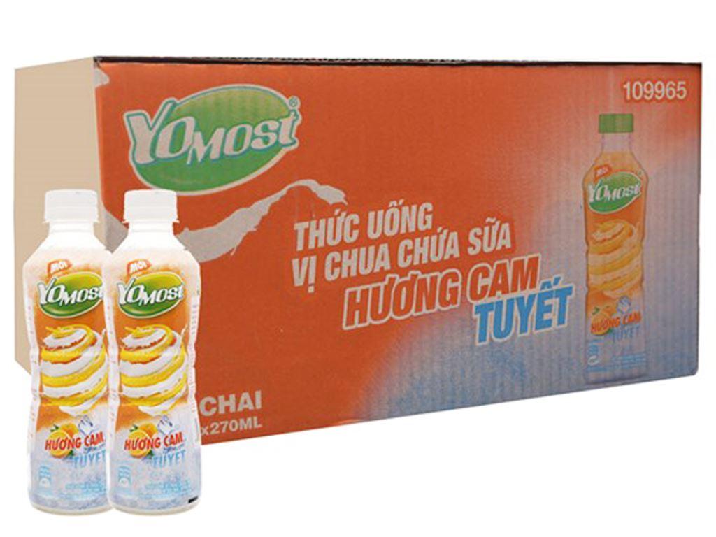 Thùng 24 chai sữa chua uống YoMost cam tuyết 270ml 1