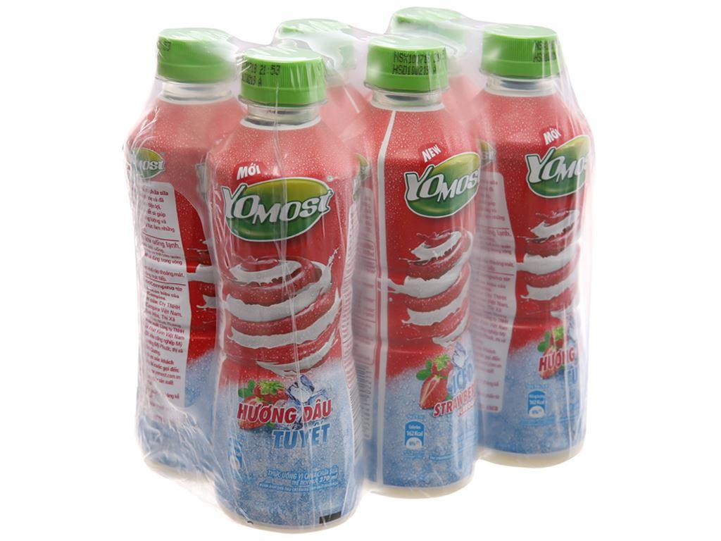 Lốc 6 chai sữa chua uống YoMost dâu tuyết 270ml 1
