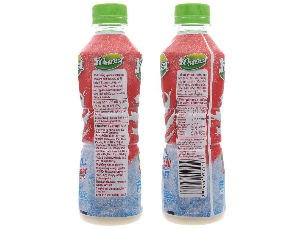 Thùng 24 chai sữa chua uống YoMost dâu tuyết 270ml 4